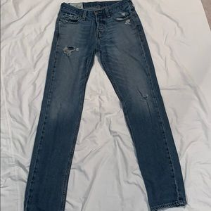 Hollister distressed button-fly jeans 30 x 32